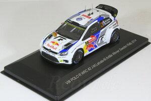 ホワイトボックス WHITE BOX 1/43 VW ポロ R WRC #2 スウェーデンラリー 2014 優勝 Jari-Matti Latvala / Miikka Anttila