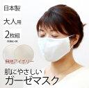 布マスク アイボリー 2枚組 大人用 Mサイズ 洗える 繰り返し使える 綿100% 男女兼用 ウォッシャブル おしゃれ 二重ガーゼ 立体 飛沫 花粉 エチケット 日本製