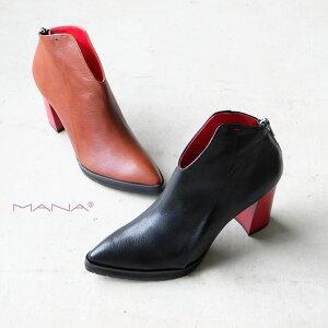 【SALE】MANA マナ アンクルブーツ 本革 日本製 アンクル チャンキーヒール ハイヒール (mana577073)インポートシューズ バーゲン