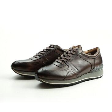「three generations(スリージェネレーションズ)」レザースニーカー 革靴 カジュアル メンズ カジュアルシューズ レースアップ 紐 レザー ビジカジ (tg0180-181)【w1】