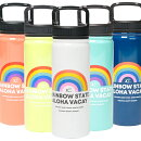 ハレイワハッピーマーケット・保温・保冷・ボトル(レインボー)マグボトル・水筒・魔法瓶・タンブラー・ステンレス・耐熱ボトル・530ml・ハワイ・キッチン・雑貨・アウトドア・ハッピーハレイワ・HALEIWAHAPPYMARKET・オレンジ・イエロー・ホワイト・ブルー・ネイビー