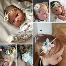 赤ちゃん ヘアバンド ベビー 花冠ヘアバンド 花かんむり かわいい ベビーヘアバンド 髪飾り 新生児 バースデー 発表会 キッズ こども 子供 出産祝い 女の子 ベビー服 ベビー用品