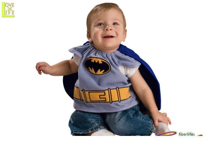 キッズ 88R5110 赤ちゃん用バットマン ビブBatman 赤ちゃん 仮装 パーティ バットマンのよだれかけ風トップス!ケープつき♪☆AOIコレクションのコスプレ♪コスプレ 衣装 コスチューム    大