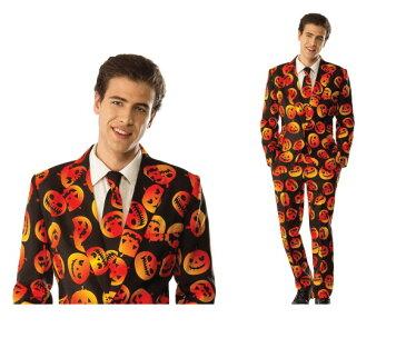メンズ パンプキンタキシードパンプキン かぼちゃ スーツ ハロウィン コスプレ コスチューム 衣装 仮装 集団仮装 かわいい
