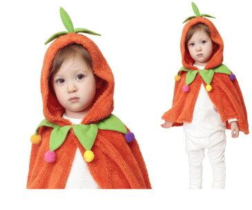 ベイビー もこもこパンプキンケープパンプキン かぼちゃ 着ぐるみ あかちゃん Baby ハロウィン コスプレ コスチューム 衣装 仮装 かわいい