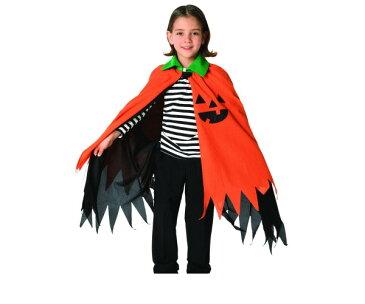 キッズ ハロウィンパンプキンマントパンプキン マント かぼちゃ ハロウィン コスプレ コスチューム 衣装 仮装 かわいい