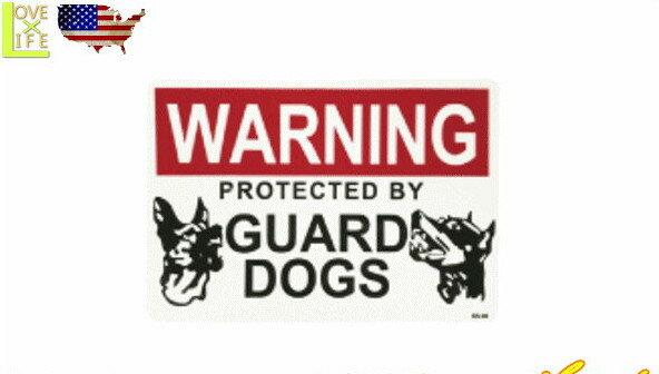 【アメリカン雑貨】【STICKER】サインステッカー【番犬注意】【GUARD DOGS】【シール】【注意看板】【カンパニー】【雑貨】【アメリカ雑貨】【アメリカ】【USA】【かわいい】【おしゃれ】