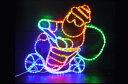 【LED】【イルミネーション】【大型商品】スクーターサンタ【バイクサンタ】【スクーター】【バイク】【サンタ】【クリスマス】【電飾】【モチーフ】【動き】【モーション】【かわいい】