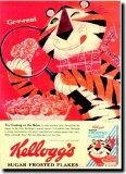 【送料無料】ケロッグ【トニー・ザ・タイガー】ポスター!アメリカ〜ンなポスターが勢揃い!お部屋をカスタムしちゃいましょう♪【新商品】【大人気】