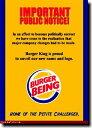 バーガーキング【BURGER KING】【広告】ポスター!アメリカ〜ンなポスターが勢揃い!お部屋をカスタムしちゃいましょう♪【】【新商品】【 】