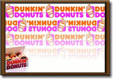 ダンキンドーナツ【Dunkin' Donuts】【Mサイズ】大き目のイラスト ピクチャーフレーム!インテリアにどうぞ♪アメリカの香りがする商品を揃えました♪企業ロゴやキャラクター!どれもCOOLです♪【】【35 】【sybp】【w1】