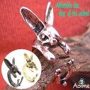ウサギ うさぎ 兎 ラビット リング アニマル 指輪 フリーサイズ 指...