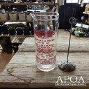 Horlicks ホーリック ミキシンググラス L イギリス製 アンティーク ガラスジャー メジャーカップ 赤い文字 ブロカント インテリア