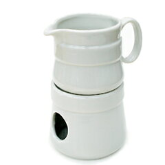 陶器のアロマポット(オイルウォーマー)。キャンドル付き。お湯がたっぷり入って使いやすい!...