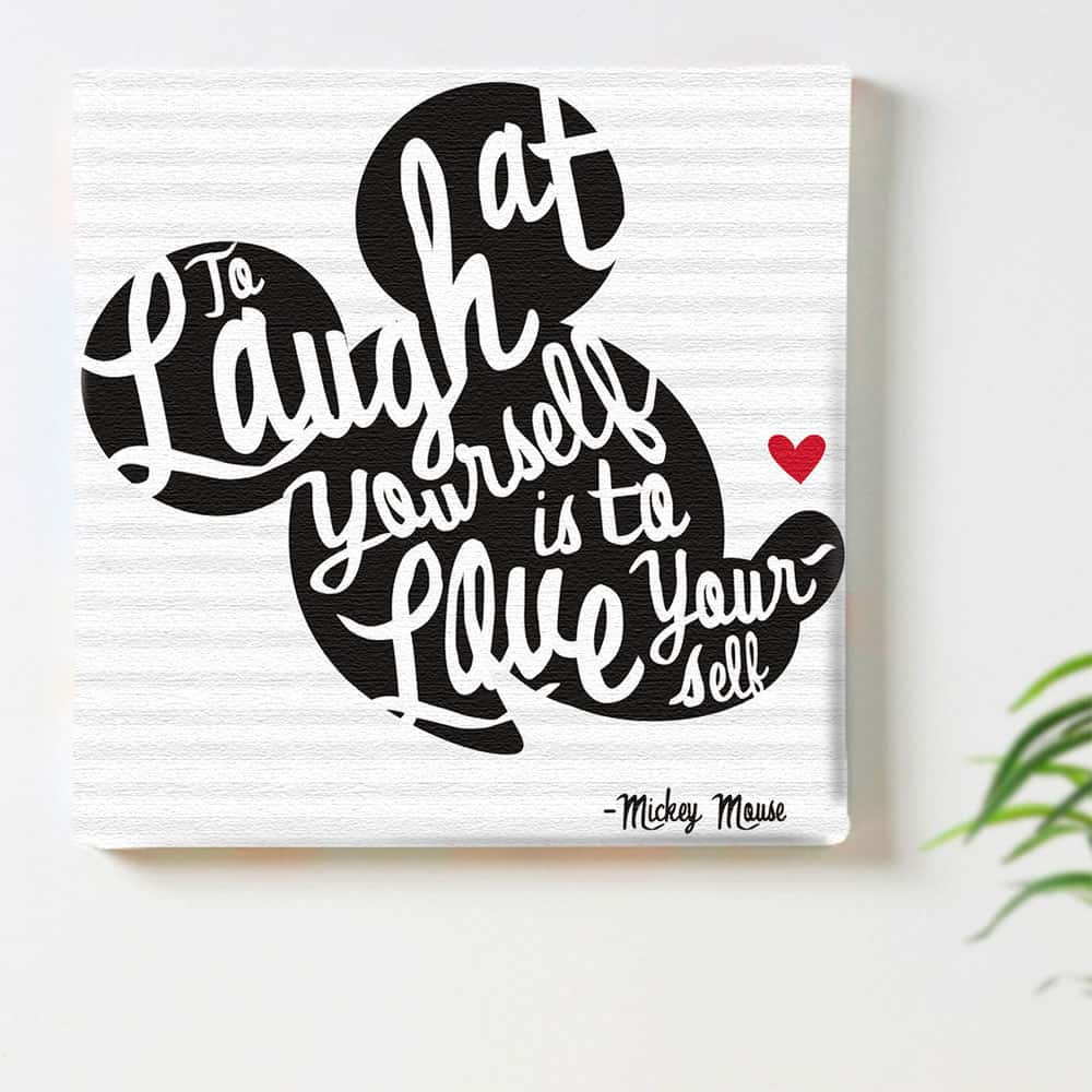 ディズニー公式 ミッキーマウス モノクロのインテリア用アートパネル ファブリック パネル ポスター ボード 壁掛け アート 絵 おしゃれ インテリア 玄関 30cm×30cm Mサイズ 【返品保証】