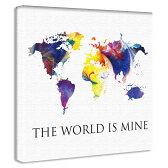 【アートデリ】世界地図の壁掛けアート インテリア 雑貨 アート ポップアート pop-1610-002