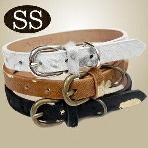 愛犬 首輪 上質な時間を演出する大人リッチ。小型犬用首輪 ASHU メタリック カラー 首輪 S...