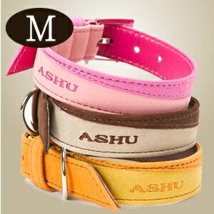 首輪 ASHUヌバックベビー カラー Mサイズ 中型犬サイズ