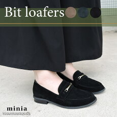 ゴールドビットローファー【miniaミニア】パンプスローヒールマニッシュローヒールレディースシューズ靴