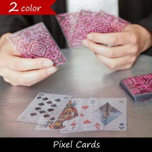 相手から見えそうで見えない不思議なデザインのピクセル調トランプPixel Cards ピクセルカード ...