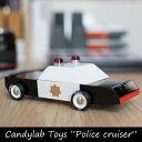 "Candylab Toys ""Police cruiser"" キャンディーラボトイ ポリスクルーザー パトカー トイカー 車 おもちゃ 玩具 男の子 オブジェ コレクション インテリア 木 木製"