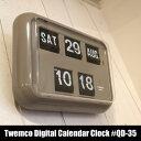 """時計【送料無料】Twemco Digital Calendar Clock #QD-35 """"G…"""