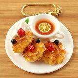 食品サンプル屋さんのキーホルダー(ワッフルセット)食品サンプル キーホルダー 雑貨 食べ物 レモンティー 紅茶 海外 土産 プレゼント