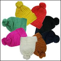 ボ〜ンボ〜ンニット帽カラー:ブラウン