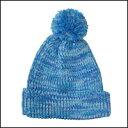 クーポン付き♪ミックスカラー ボンボン ニット帽 カラー:ブルーミックス【フリーサイズ/男女兼用】【メール便 送料無料】【あす楽対応】