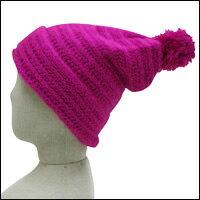 ボ〜ンボ〜ンニット帽カラー:ピンク