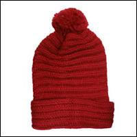 ボ〜ンボ〜ンニット帽カラー:レッド