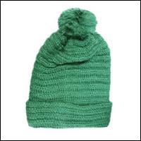 ボ〜ンボ〜ンニット帽カラー:グリーン