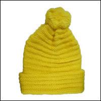 ボ〜ンボ〜ンニット帽カラー:イエロー