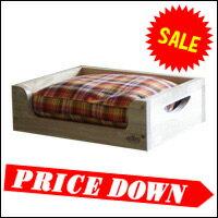 犬用 の 木製ベッド 。フカフカクッションでワンコも大満足◎クッションは選んで楽しい10種類!...