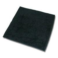 90匁ハンドタオル12枚セット:ブラック(全7色)【業務用タオル】【片面パイル地】