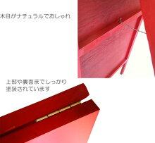 〔送料無料〕木製A型立て看板ミニ(オレンジ・青・緑)両面使用