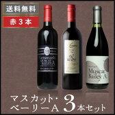 [ マスカットベリーA 3本セット ] 赤ワイン セット 甲州ワイン 国産 日本ワイン[mba]10P03Dec16