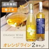 甲州ワイン 白ワイン 辛口 日本ワイン [ オレンジワイン 2本セット]ワインセット 送料無料 国産 ワイン