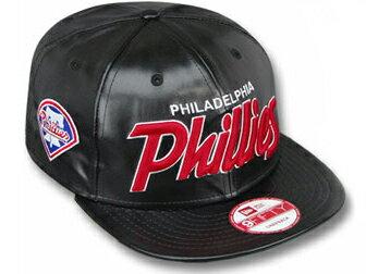メンズ帽子, キャップ NEW ERA PHILADELPHIA PHILLIESREDUX SNAPBACKBLK-RED 9FIFTY cap PUSCRIPT LEATHER