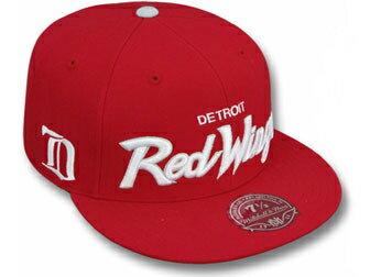 メンズ帽子, キャップ MITCHELLNESS DETROIT RED WINGS CLASSIC-SCRIPTRED FITTED CAP new era cap new era newera