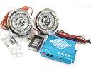 3412 バイク 二輪 オーディオ スピーカー アンプ ビッグスクーター セット USB SDカード対応 MP3 青