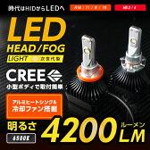 LEDフォグランプ 時代はHIDからLEDへ CREE社製 LED 4200ルーメン 6500K 冷却ファン搭載 アルミヒートシンク 【H8/H10/H11/H16】※【HB3/4は取扱終了】