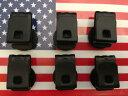 サスペンダーボタン クリップボタン 米国製 稀少品 メンズ 紳士 ブレイシーズボタン一式x6Set Braces Black B119 2