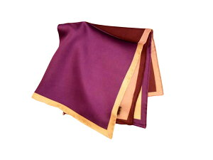 ポケットチーフ シルクチーフ メンズ 紳士 Silk 英国 マイケルソン of ロンドン 大判チーフ 4Colour/Purple Size45x45cm C147