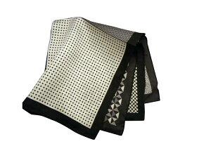 ポケットチーフ シルクチーフ メンズ 紳士 Silk 英国 マイケルソン of ロンドン 大判チーフ 4Pattern/Black Size40x40cm C154