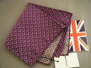 ポケットチーフ シルクチーフ ウーヴェン メンズ 紳士 Silk 英国製 Duchamp ドゥシャン Size30x30cm C211