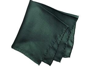 ポケットチーフ シルクチーフ メンズ 紳士 Silk 英国 マイケルソン of ロンドン 大判チーフ Solid/Green Size40x40cm C225