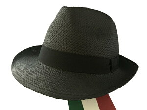 パナマ帽 イタリー製 C.Melegari社 Panama PNNR メンズ サイズ選択 Black H176