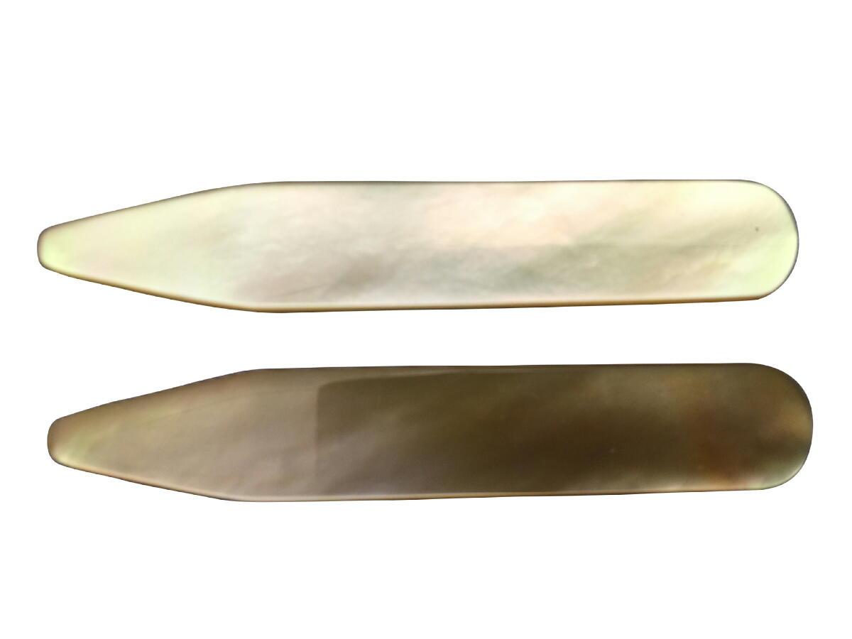 カラーキーパー 襟芯 スティフェナーズ メンズ 紳士 天然真珠母貝 ステイ 英国直送 MOP Gold 1P Stiffeners サイズ選択 T153