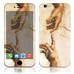 【お取寄せ】 iPhone6/6Plus/6s/6sPlus スキンシール DecalSkin [AT44/アダムの創造] デコシール デコシート 背面シール iPhone 6 6Plus 6s 6sPlus iPhone6 iPhone6Plus iPhone6s iPhone6sPlus 送料無料